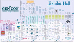 GenCon 2011 Exhibitor Map